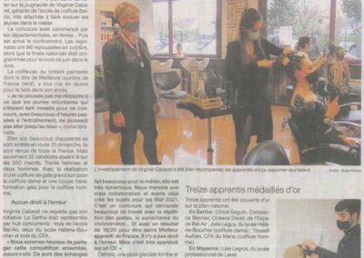article Ouest France du 07/12/20
